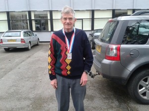 Jim with silver medal
