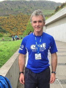 David Bell sporting his hard earned Medal