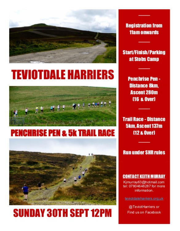 Penchrise Pen Race & 5k Trail Race @ Stobs Camp