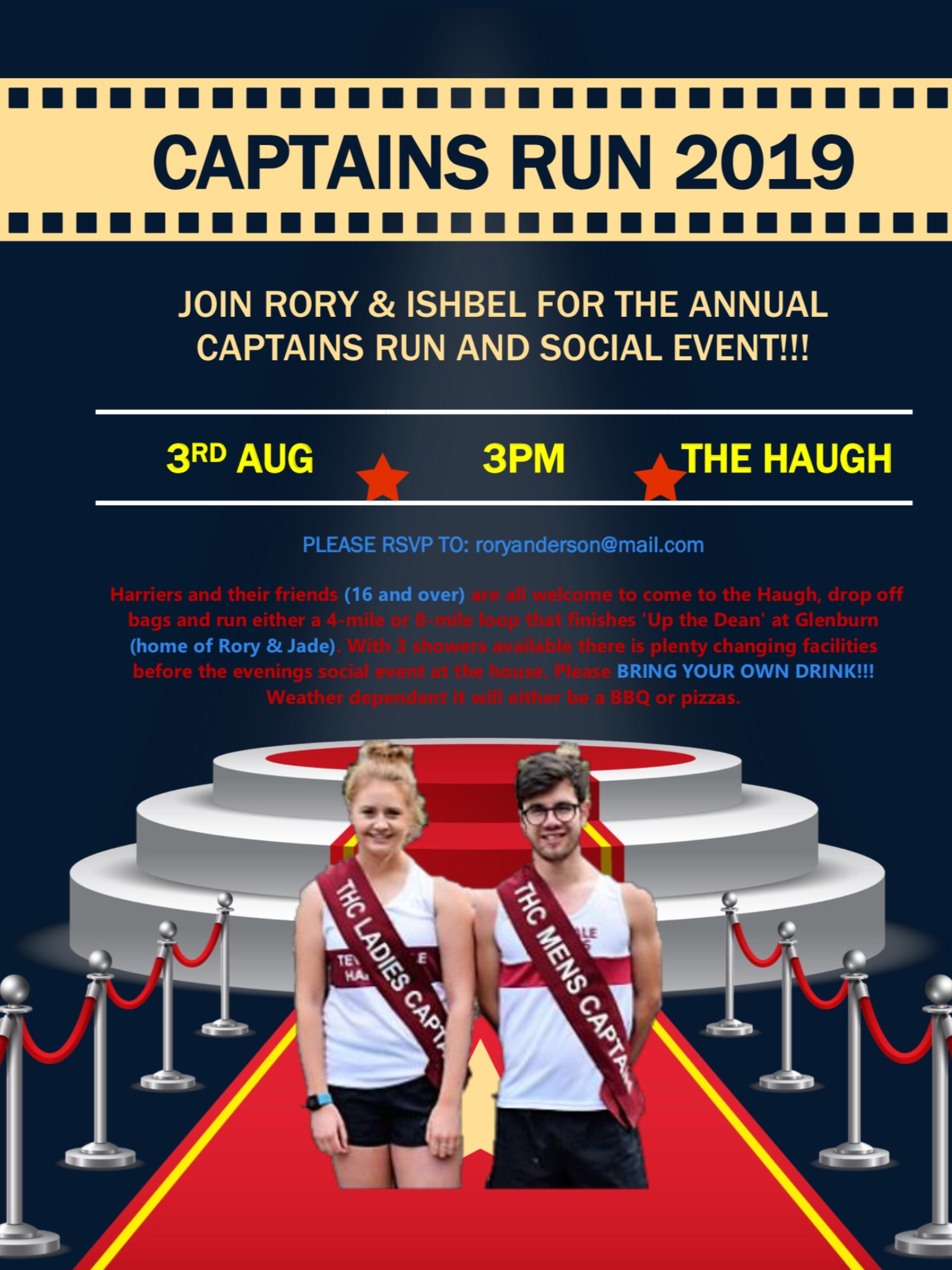 Captains Run 2019 @ The Haugh and then Glenburn